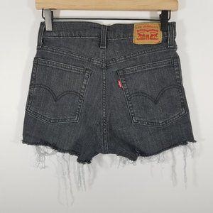 Levi's High Waist Distressed Jean Shorts Size 26